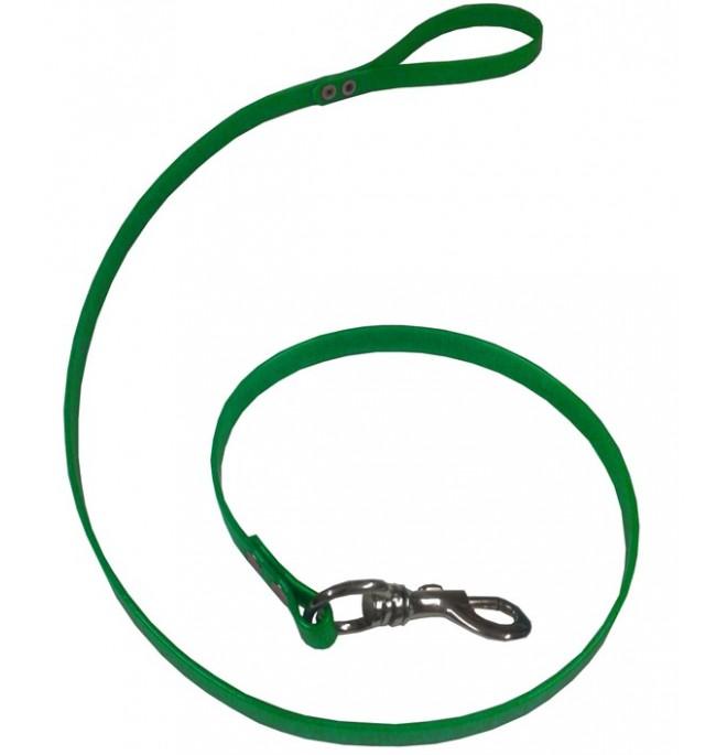 Correa para perro de biothane verde
