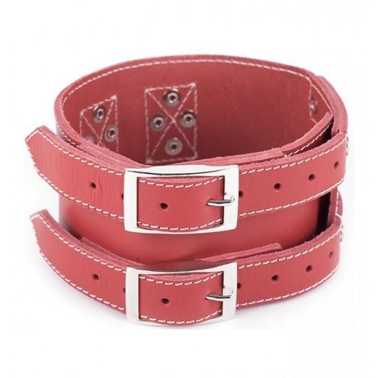 Collar y correa para perro Biothane 2,5 Hebilla Rulo Personalizado Rojo