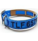 Collar Antiparasitario Biothane Azul grabado