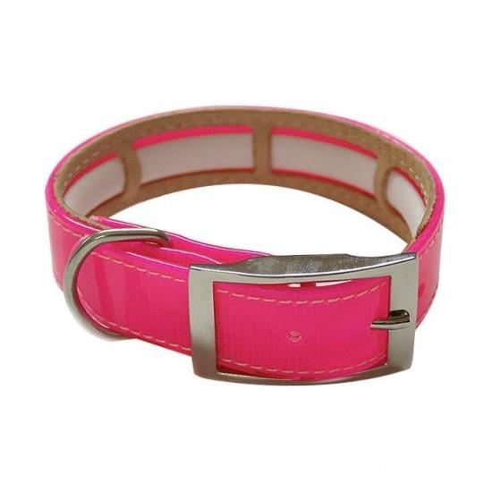 Collares para perros personalizados piel vaquetilla rosa palo