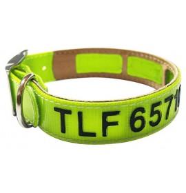Collar antiparasitario personalizado biothane amarillo