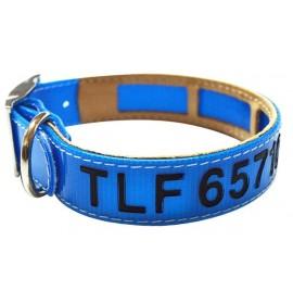 Collar antiparasitario personalizado biothane azul
