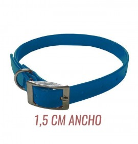 Collar biothane hebilla alemana azul