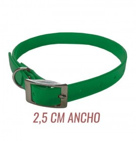 Collar para perro biothane 2,5 hebilla alemana verde