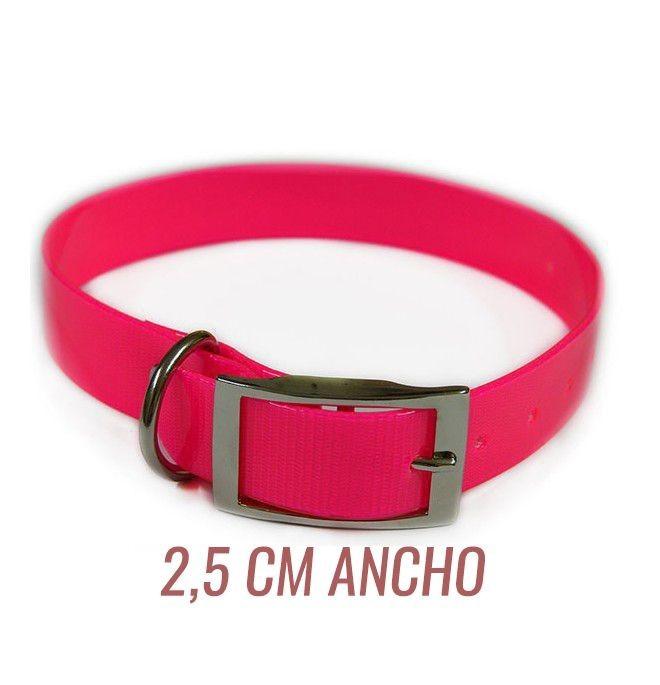 Collar para perro Biothane 2,5 Hebilla Alemana Rosa
