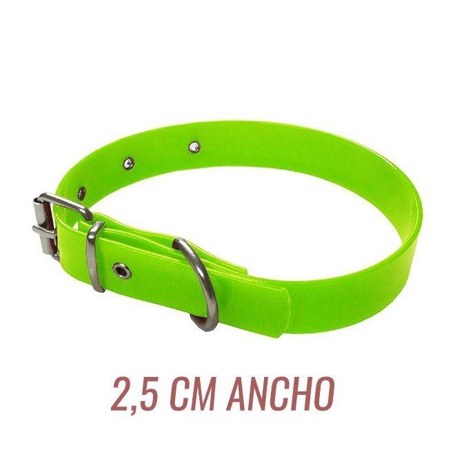 Collar para perro biothane 2,5 hebilla rulo amarillo