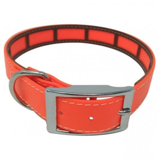 Collar para perro biothane 3,8 hebilla  rulo amarillo