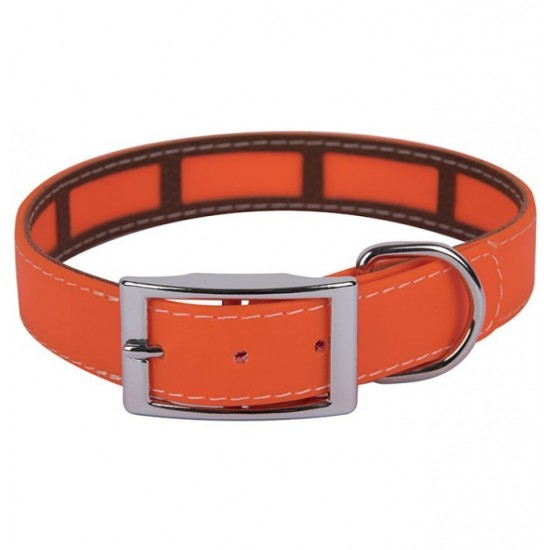 Collar para perro biothane 3,8 hebilla rulo naranja
