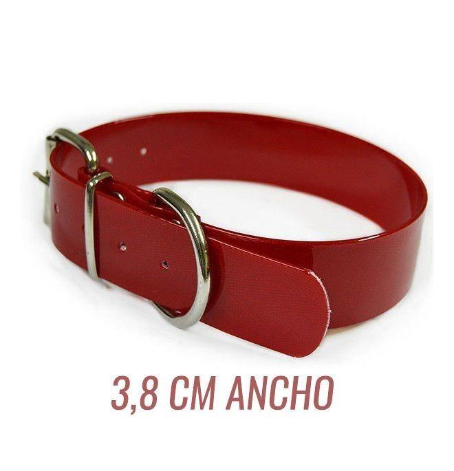 Collar para perro biothane 3,8 hebilla rulo rojo