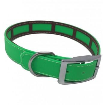 Collar para perro Biothane 2,5 Hebilla Rulo Personalizado Verde