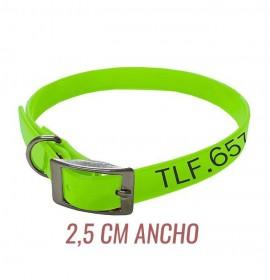 Collar para perro biothane 2,5 hebilla alemana personalizado amarillo