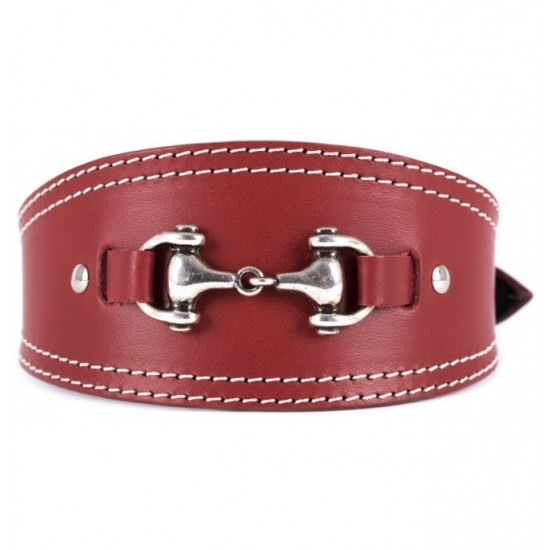 Collar antiparasitario para perro piel vaquetilla personalizado marron