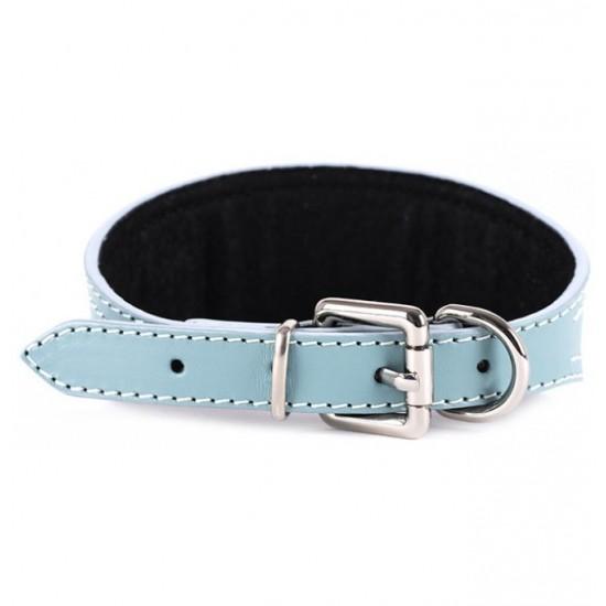 Collar Antiparasitario para perro Piel Vaquetilla Celeste interior