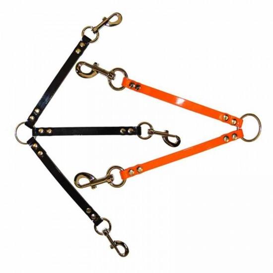 Collares para perros de rehala 5 cm dos tiras sin grabado
