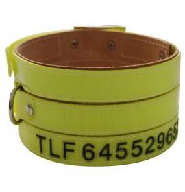 Collares perro rehala 7,5 cm tres tiras 1 grabado