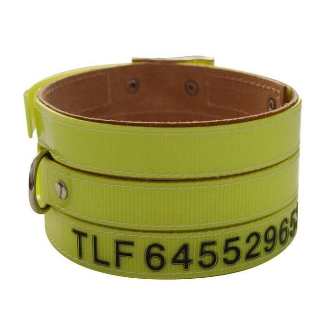 Collares para perro de rehala 7,5 cm tres tiras 1 grabado