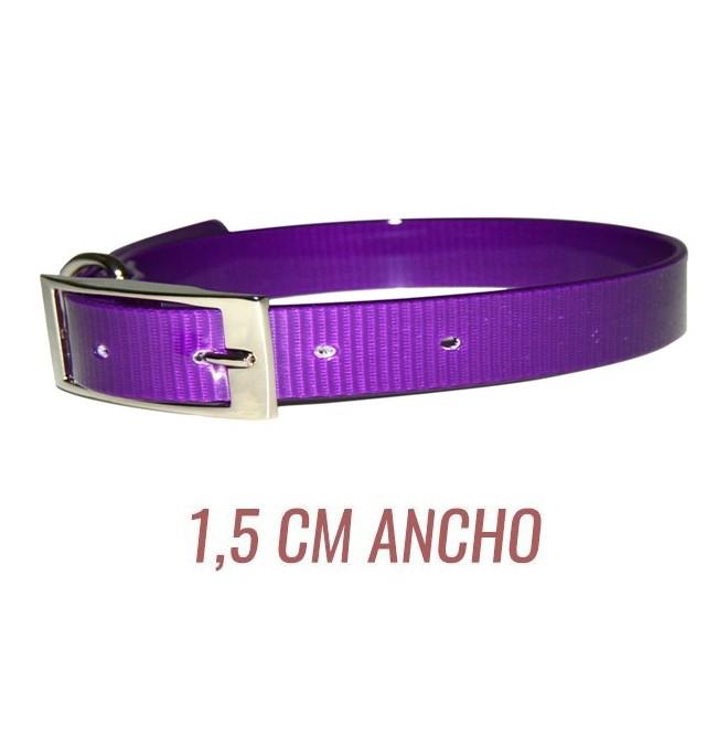 Collar para perro biothane 1,5 hebilla alemana violeta