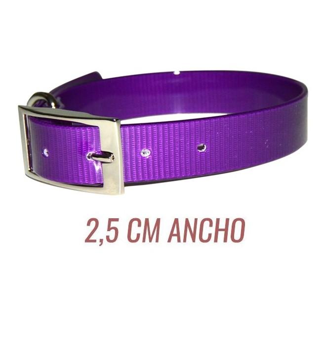 Collar para perro biothane 2,5 hebilla alemana violeta