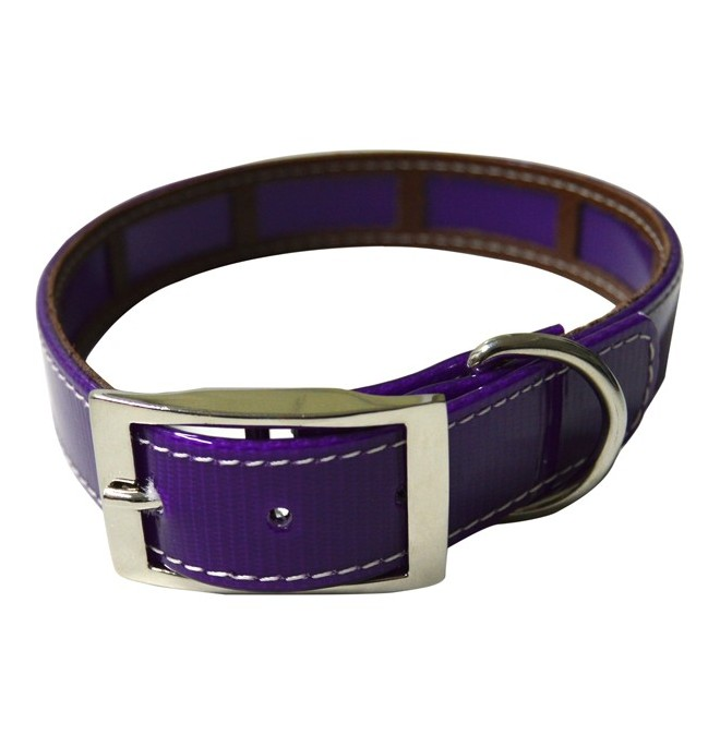 Collar antiparasitario biothane color violeta