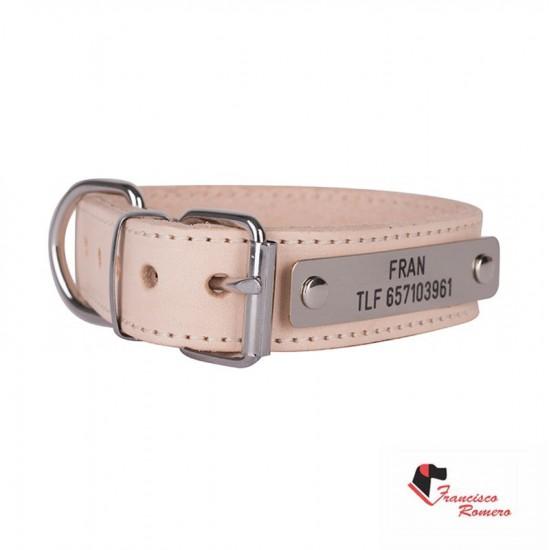 Collar para perro biothane 2,5 hebilla rulo personalizado violeta