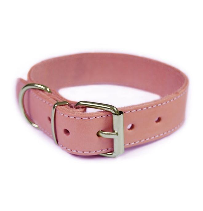 Collares para perros peque os piel vaquetilla rosa palo for Collares para perros