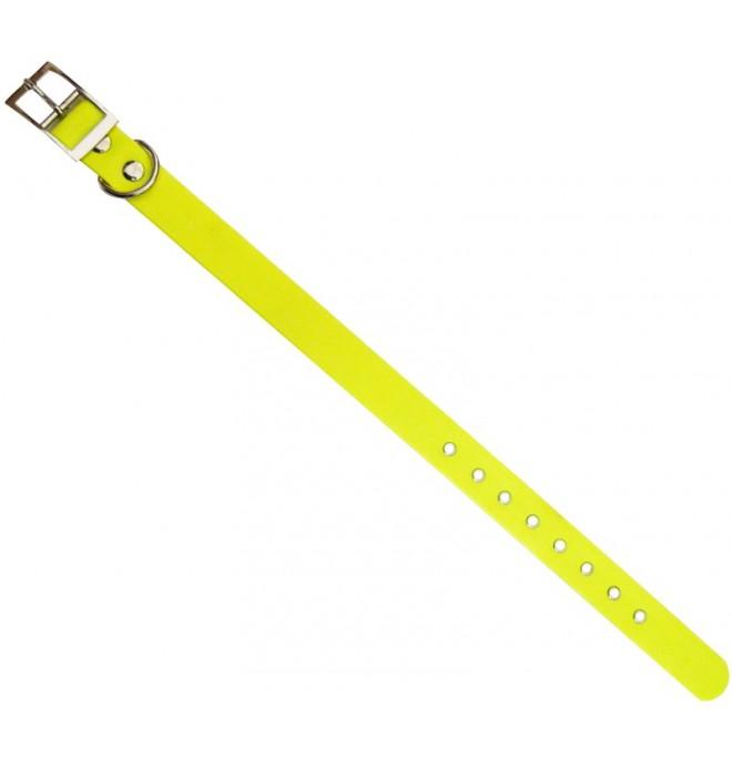 Collar para perro biothane beta amarillo fluor 527