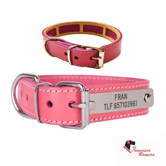Collar para perro biothane beta verde fluor 528
