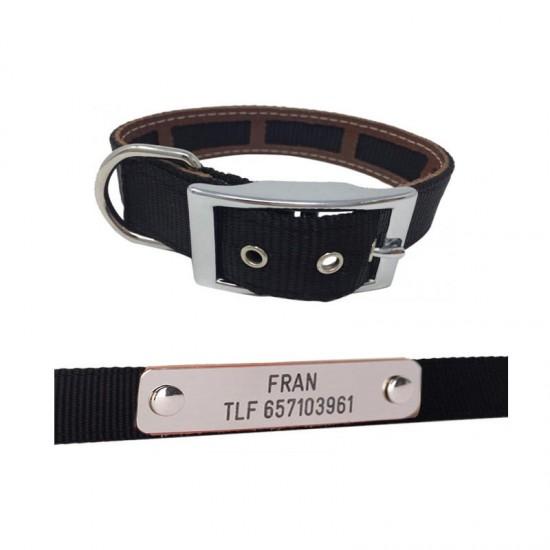 Collares para perros de rehala 5 cm 1 hebilla 2 grabados