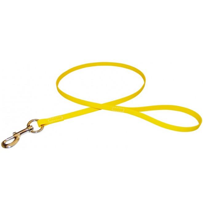 Correa para perro de biothane beta amarillo 527