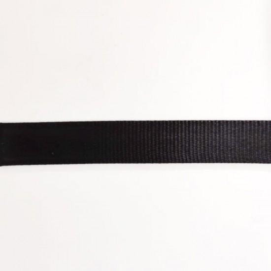 Nylon negro ancho 2.5 cm