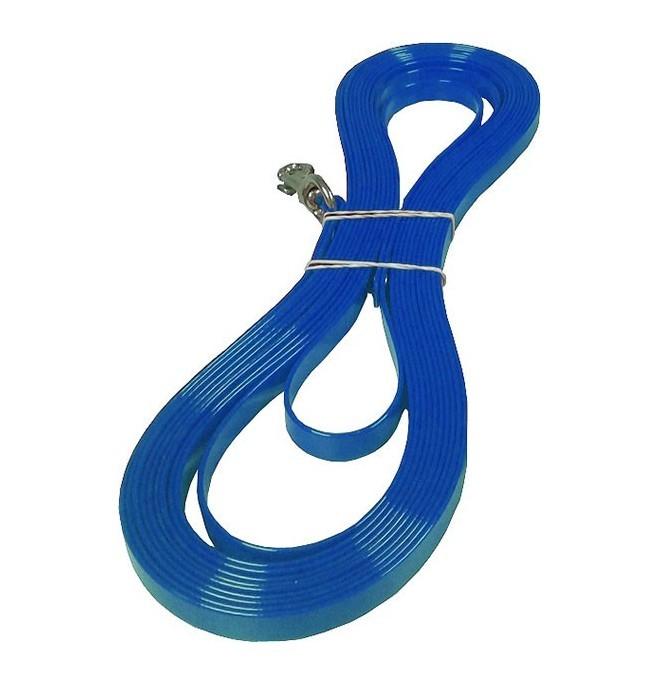 Correa Biothane Gold Trailla Perro Azul