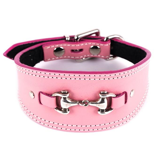 Collares para galgos adorno bocado rosa