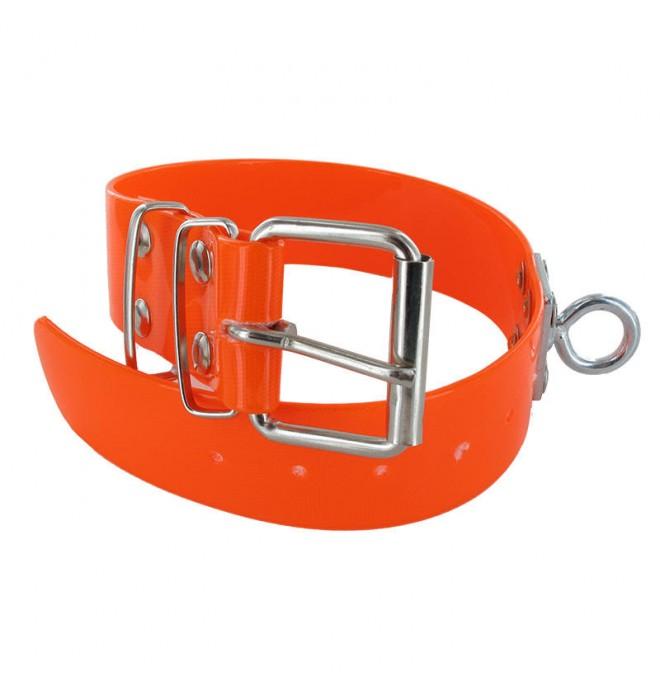 Collar para perro biothane 3,8 quitavueltas naranja