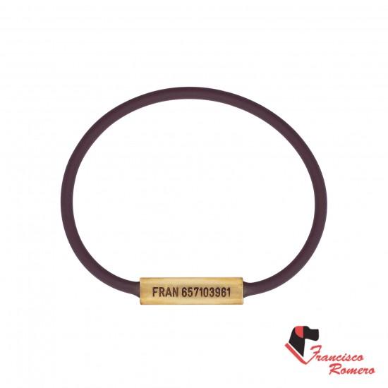 Collar redondo Biothane marrón