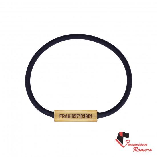 Collar redondo Biothane negro