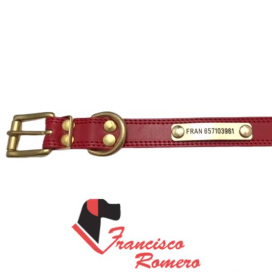 Collar antiparasitario hebilla alemana nylon marrón