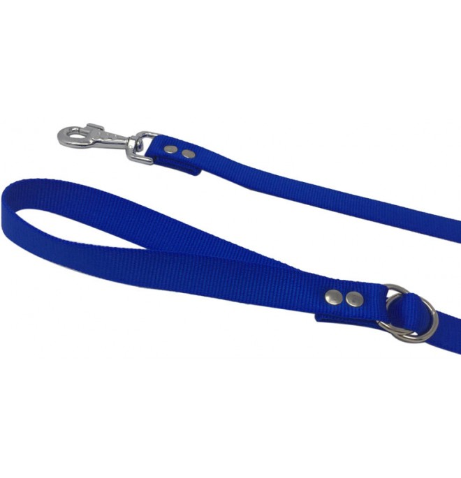 Correa paseo nylon azul regulador asa
