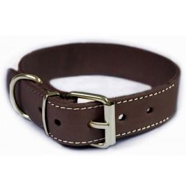 Collar para perros piel vaquetilla marron