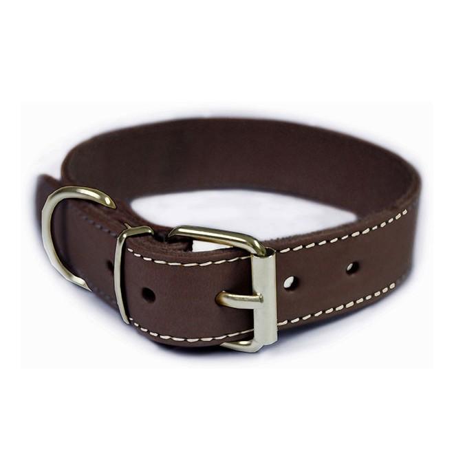 Collar para perros piel vaquetilla marron collares para for Collares para perros