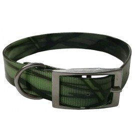 Collar para perro biothane camuflaje verde