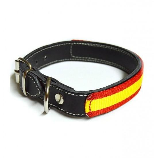 Collar para perro nylon bandera canarias