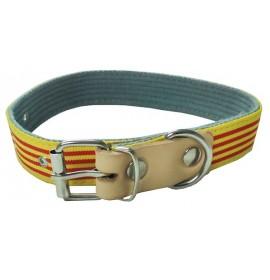 Collar para perro nylon bandera cataluña