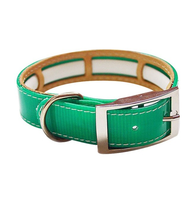Collar Antiparasitario Biothane Verde interior