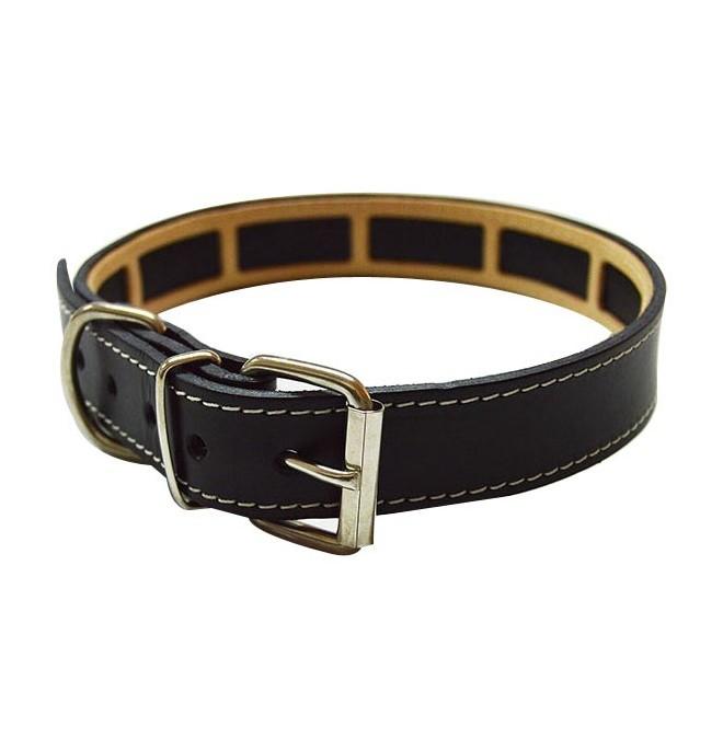 Collar Antiparasitario para perro Piel Vaquetilla Negro