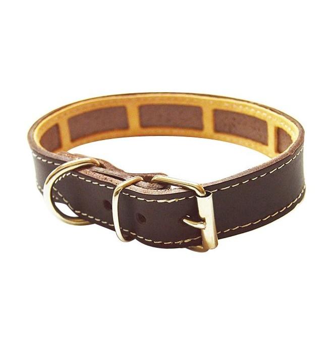 Collar Antiparasitario para perro Piel Vaquetilla Marrón