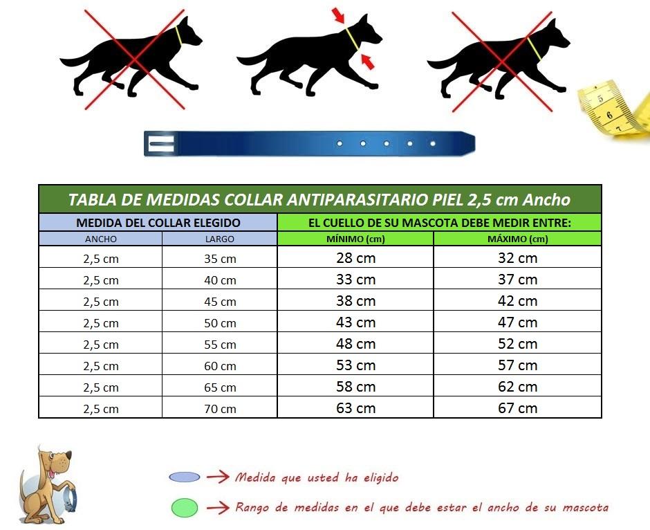 collar para perros antiparasitario piel vaquetilla