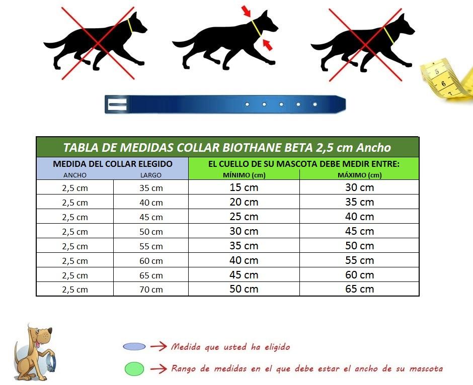 Collar para perro biothane beta for Como se escribe beta