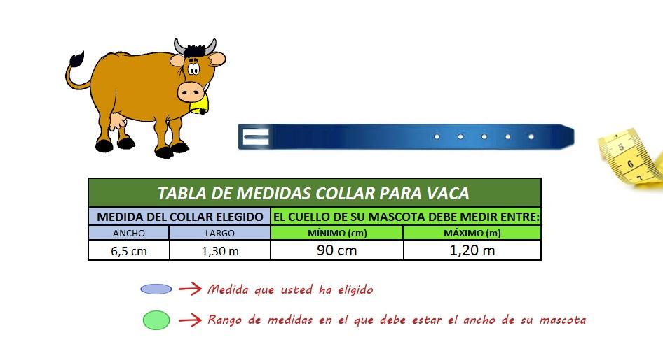 tabla medidas collar para vaca